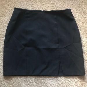 XOXO VIntage black mini skirt with front slit